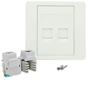 Double Faceplate with cat6 Keystone jack